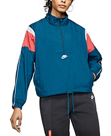 Women's Sportswear Heritage Quarter-Zip Windbreaker