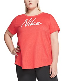 Women's Plus Size Logo Training T-Shirt