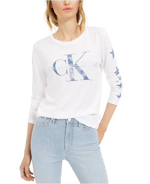 Calvin Klein Jeans Metallic Logo T-Shirt
