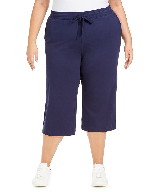 Karen Scott Plus Size Knit Capri Pants, Created for Macy's