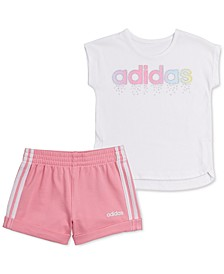 Baby Girls 2-Pc. T-Shirt & French Terry Shorts Set