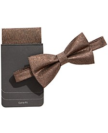 Men's Lurex Bow Tie & Pocket Square
