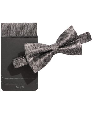 Tallia Men's Lurex Bow Tie & Pocket Square