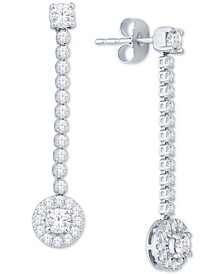 Diamond Drop Earrings (1 ct. t.w.) in 14k White Gold