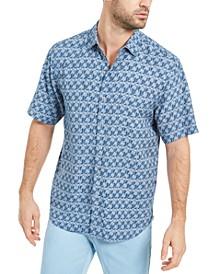 Men's Palms Away Geo-Print Shirt
