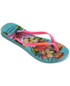 Havaianas Women's Slim Floral Flip Flops Women's Shoes
