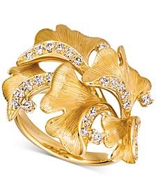 Nude Diamond Sculptured Flower Statement Ring (1/2 ct. t.w.) in 14k Gold