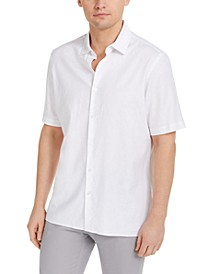 Men's Solid Linen Blend Shirt, Created for Macy's