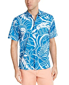 Men's Luau Blooms Tropical Print Shirt