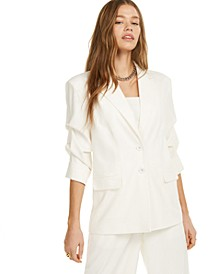 Blazer With Ruched Sleeves, Created for Macy's