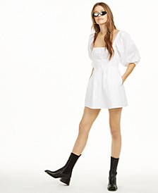 Puff Sleeve Mini Dress, Created for Macy's