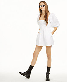Danielle Bernstein Puff Sleeve Mini Dress, Created for Macy's