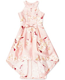 Little Girls Floral Bow-Front Maxi Dress, Created for Macy's