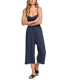 Juniors' Where You Move Cropped Jumpsuit