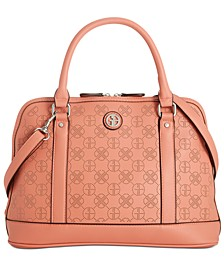 Perforated Dome Leather Satchel, Created for Macy's