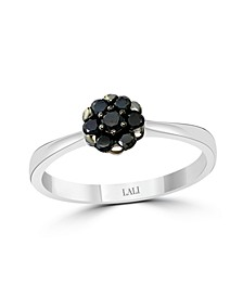 Black Diamond (1/4 ct. t.w.) Ring in 14K White Gold