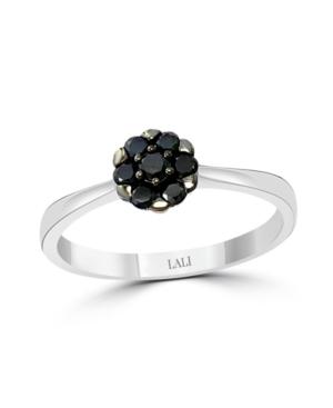 Black Diamond (1/4 ct. t.w.) Ring in 14K White Gold