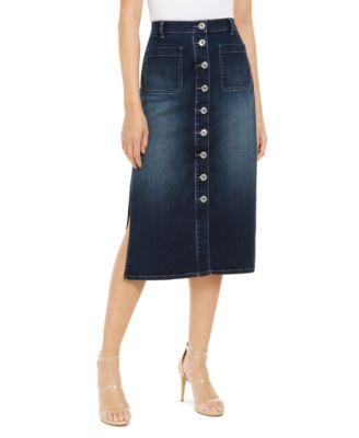 Inc International Concepts Denim Sailor Skirt Indigo 12