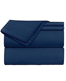 Premier 1800 Series 4 Piece Deep Pocket Bed Sheet Set, California King