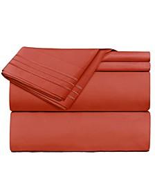 Premier 1800 Series 4 Piece Deep Pocket Bed Sheet Set, King