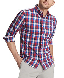 Men's Colton Custom-Fit Stretch Check Shirt