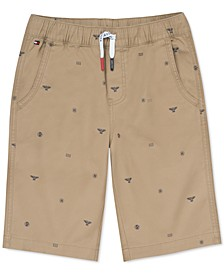 Little Boys Stretch Logo-Print Shorts