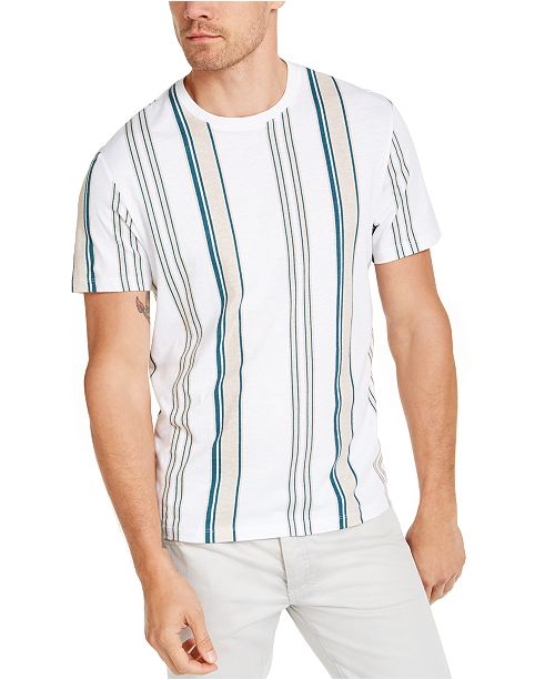 INC International Concepts INC Men's Tea Date Stripe T-Shirt, Created For Macy's