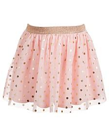 Toddler Girls Dot-Print Mesh Skirt, Created for Macy's