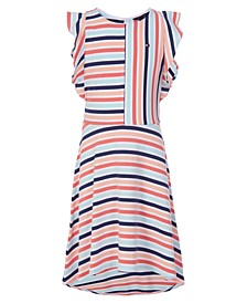 Big Girls Striped Flutter Dress