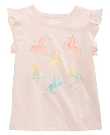 Toddler Girls Ombré Unicorn T-Shirt, Created for Macy's