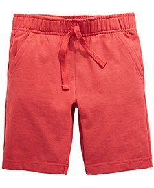 Little Boys Solid Knit Shorts, Created For Macy's
