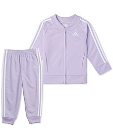 Toddler Girls 2-Pc. Tricot Jacket & Jogger Pants Track Set