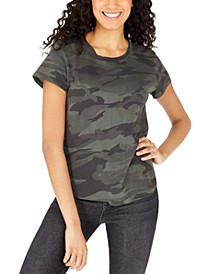 Abbie Cotton Camo-Print T-Shirt