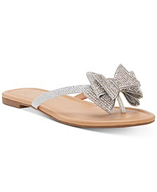 Women's Mabae Bow Flat Sandals, Created for Macy's