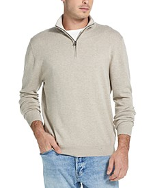 Men's Quarter-Zip Pullover Sweater