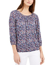 Dainty Blooms Peasant Top, Regular & Petite