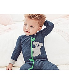 Baby Boys 1-Pc. Koala Footed Pajama