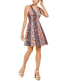 Michael Michael Kors Mixed-Floral Scuba Dress