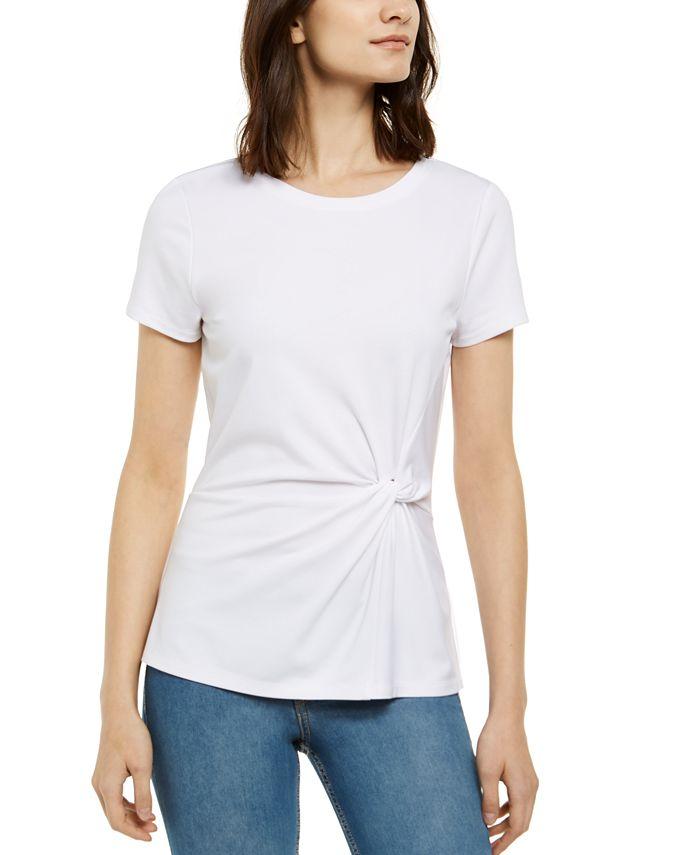 INC International Concepts - Ponté-Knit Twist Top