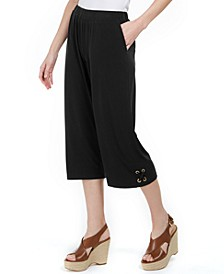 Pull-On Lace-Up Pants