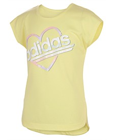 Toddler Girls Short Sleeve Slit Tee