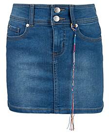 Big Girls Double-Button Denim Skirt