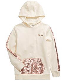 Big Girls Sequin-Trim Hoodie
