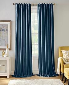 "Carnaby 50"" x 95"" Distressed Velvet Curtain Panel"
