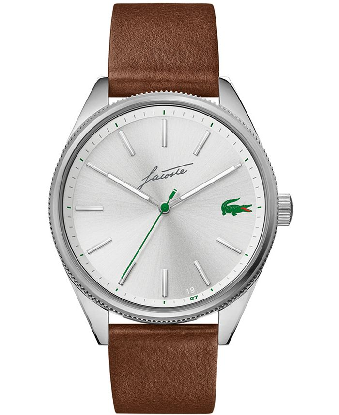 Lacoste - Men's Heritage Brown Leather Strap Watch 42mm