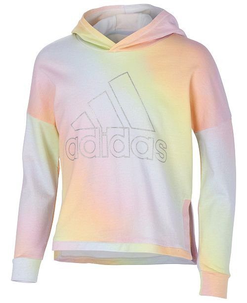adidas Big Girls Printed French Terry Cotton Hoodie