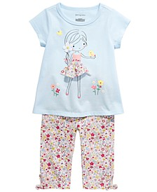 Toddler Girl Flower Girl Tunic & Floral-Print Pants Separates, Created for Macy's