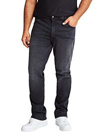 MVP Collections Men's Big & Tall Black Vintage Wash Straight Fit Jeans