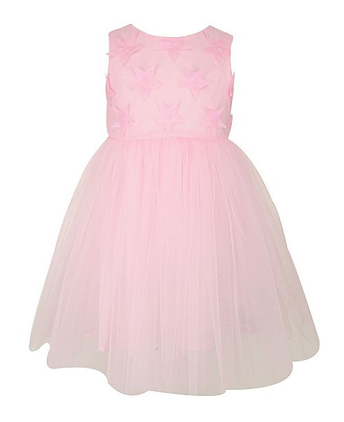 Popatu Baby Girl Applique Tulle Dress