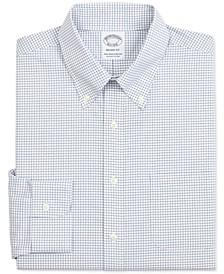 Men's Regent Slim-Fit Non-Iron Performance Stretch Check Dress Shirt